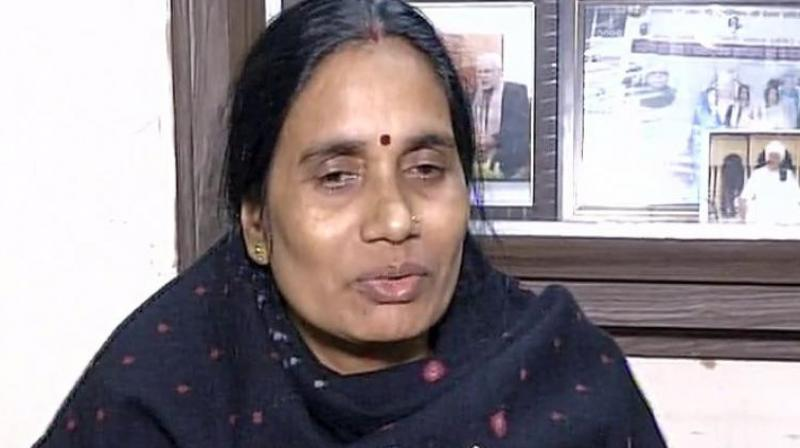 Nirbhaya's mother Asha Devi. (Photo: Twitter/ANI)