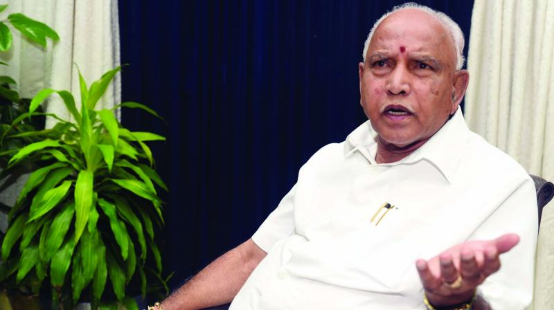 Fifteen Assembly constituencies in the state voted on Thursday in what is considered an acid test for the B.S. Yediyurappa government which will have to win at least seven of the 15 seats to ward off a threat from the opposition Congress and JD(S) which could join hands to topple the five-month-old BJP government if they have the required numbers in the Assembly. (Photo: Asian Age)