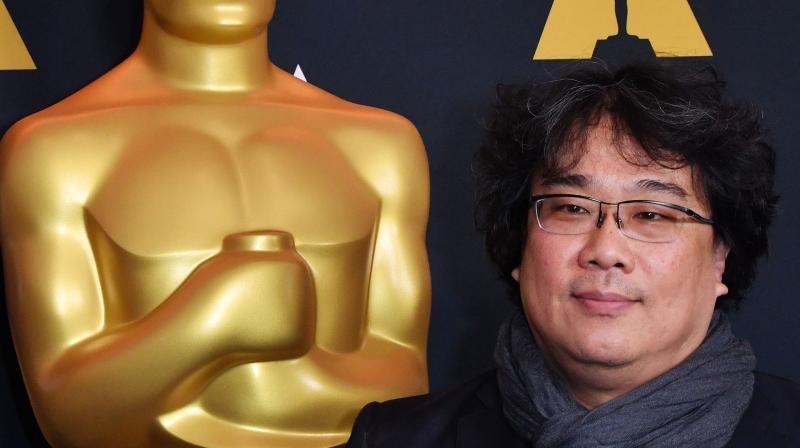 South Korean director Bong Joon-ho, who directed the film Parasite, attends the Oscar Week: International Feature Film reception featuring the 2020 Oscar-nominated films in the Best International Feature Film category, formerly known as Foreign Language Film, at the Samuel Goldwyn Theater in Beverly Hills, California, on February 6, 2020. (AFP)