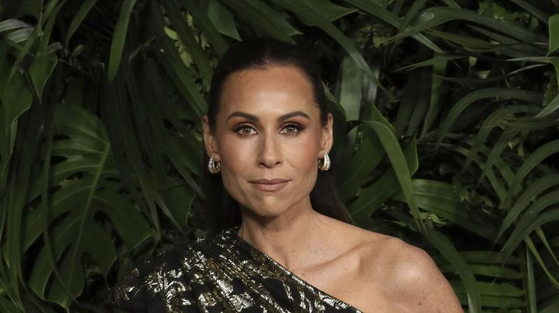 Minnie Driver arrives at the Chanel Pre-Oscar Dinner at The Beverly Hills Hotel on Saturday, Feb. 8, 2020, in Beverly Hills, Calif. (AP)