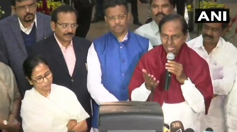 'My efforts for non-BJP, non-Congress alliance will continue,' TRS president and Telangana Chief Minister K Chandrasekhar Rao said. (Photo: ANI)