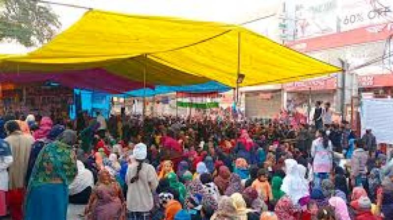 The Shaheen Bagh protest site.