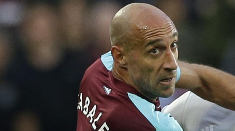 West Ham united's Pablo Zabaleta. AP Photo
