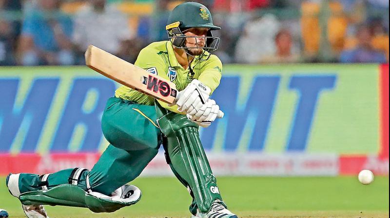 South Africa's most dependable batsman Quinton de Kock. AP Photo