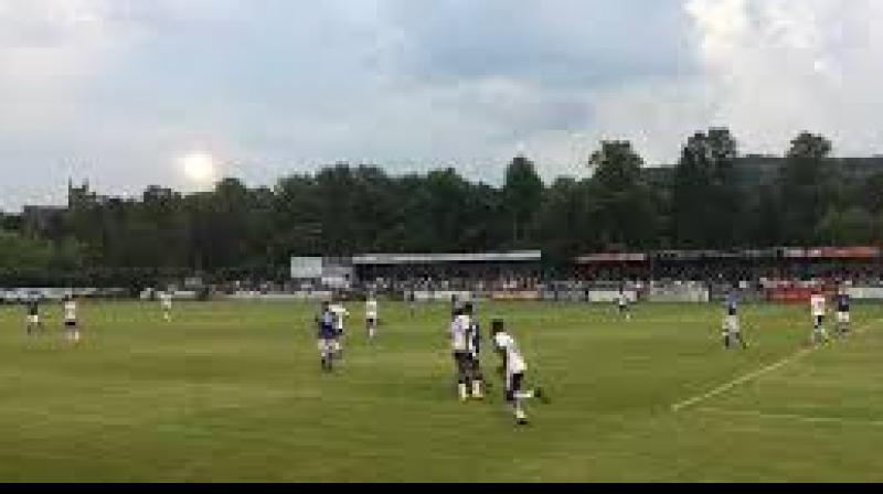 Local football match.