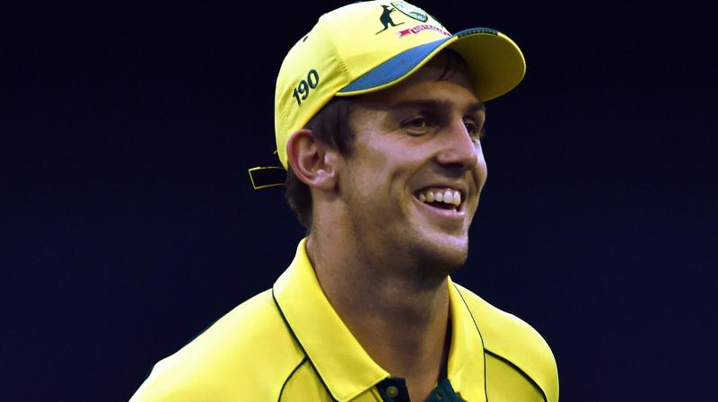 Australia's paceman Mitchell Marsh. AFP Photo