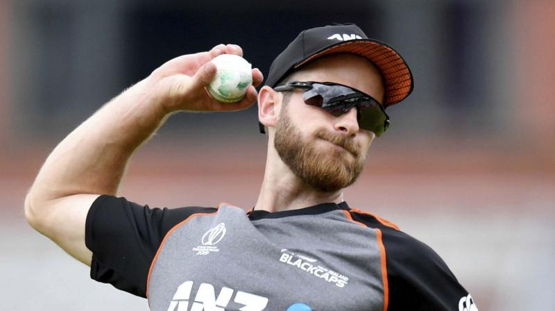 New Zealand's Kane Williamson during a nets session at Emirates Old Trafford in Manchester, England. AP Photo