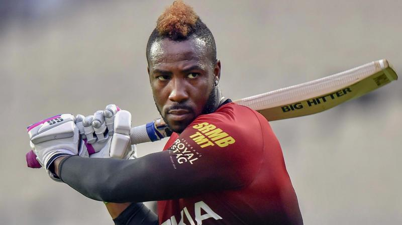 West Indian cricketer Annre Russell. PTI Photo