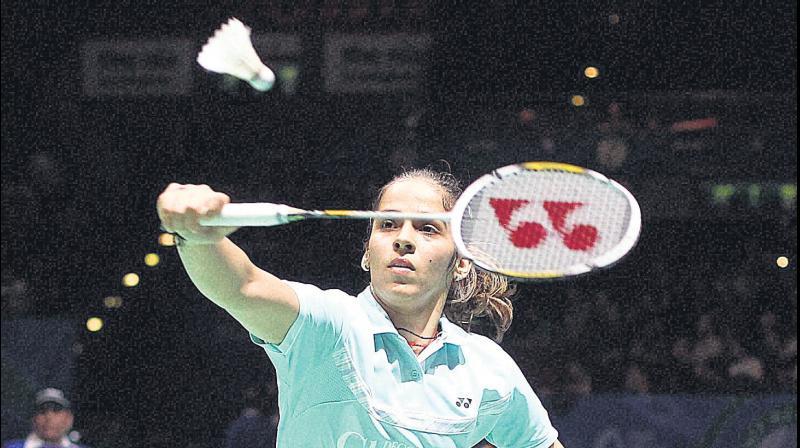 Saina Nehwal of India. AP Photo