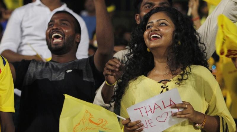 MS Dhoni and Chennai Super Kings fans. AP Photo