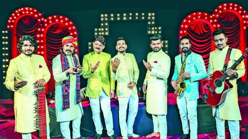 A file picture of band members from Swaraag.