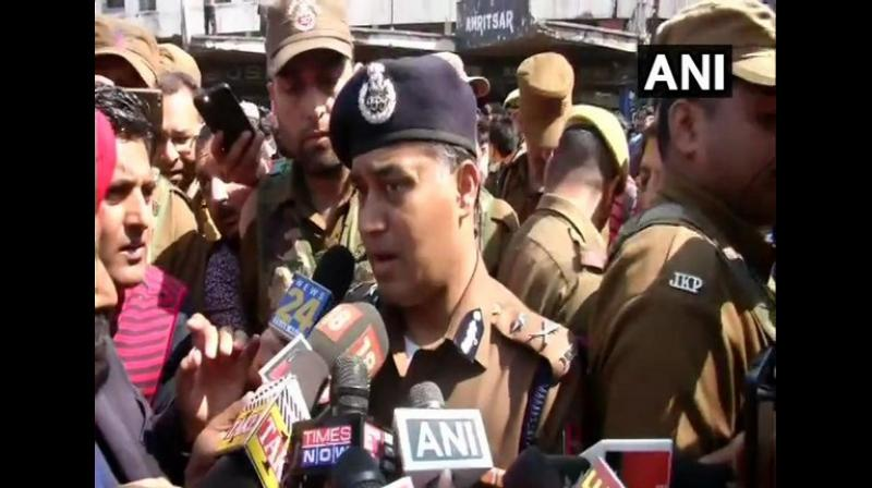 Inspector General of Police, Jammu, M K Sinha made the appeal to shopkeepers in a post on his Twitter account. (Photo: ANI)