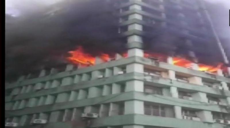 The fire department got a call regarding the blaze at 8:34 am. (Photo: ANI   Twitter)