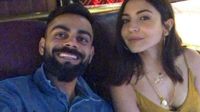 After sealing the two-match Test series against Bangladesh by 2-0, Indian captain, Virat Kohli was seen having a quality time with his sweetheart and wife, Anushka Sharma. (Photo:Twitter)
