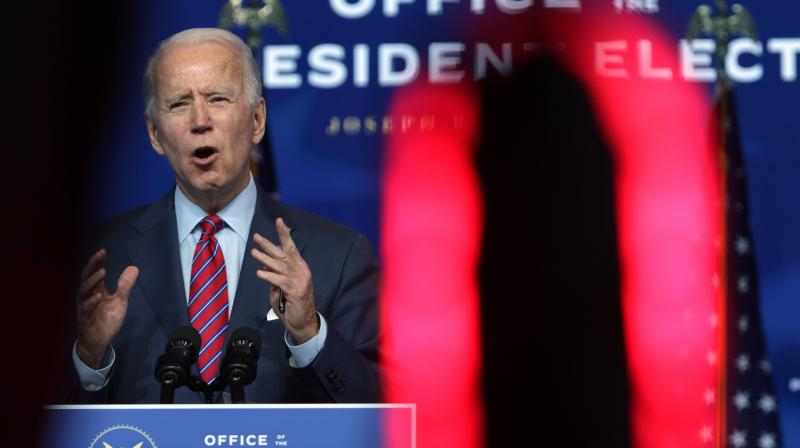 U.S. President-elect Joe Biden speaks on November job numbers at the Queen theater on December 4, Wilmington, Delaware. (Alex Wong/Getty Images/AFP)