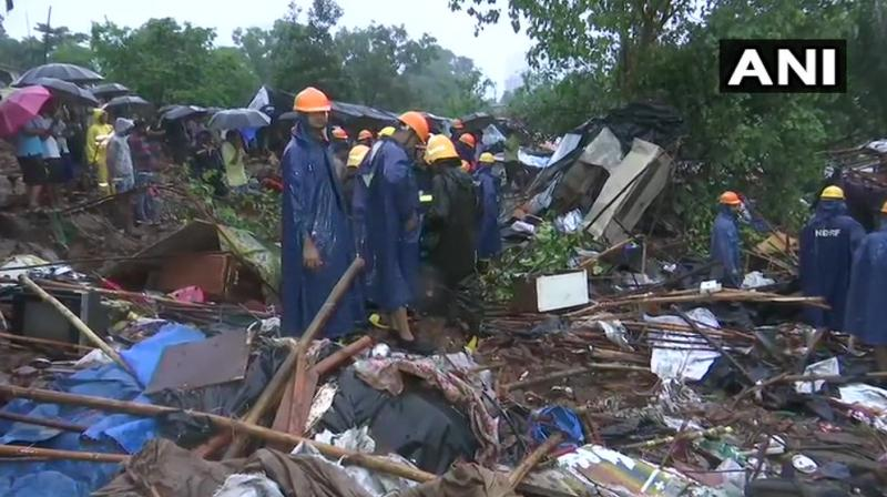National Disaster Response Force (NDRF), fire brigade and police had rushed to the spot to rescue those trapped under the debris. (Photo: ANI)