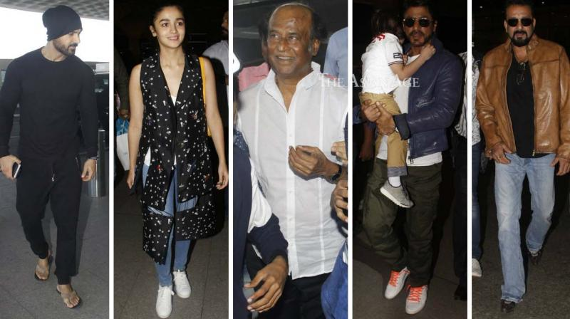 Numerous Bollywood stars were snapped by shutterbugs at the Mumbai airport on Monday. (Photo: Viral Bhayani)