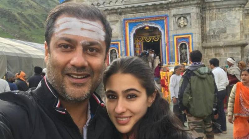 Abhishek Kapoor and Sara Ali Khan at Kedarnath.