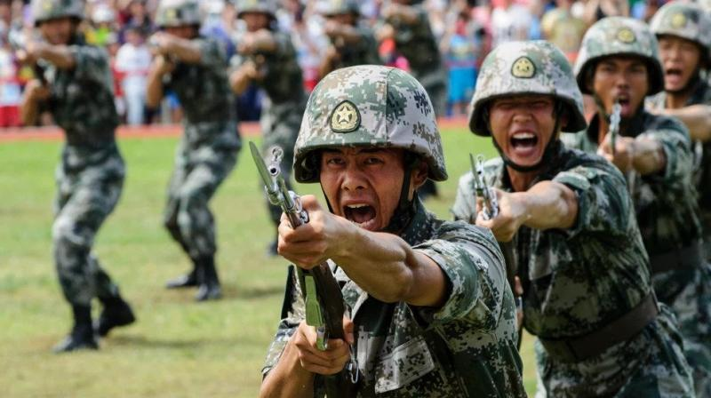 Chinese People's Liberation Army soldiers. (Representational image: AFP)