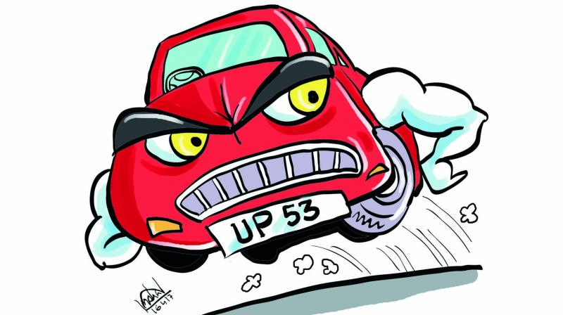 """""""UP 53"""", however, has not yet become as reckless as the Samajwadi vehicles, but seeing the number of vehicles pouring into Lucknow every day, the fear of a replay cannot be entirely ruled out."""