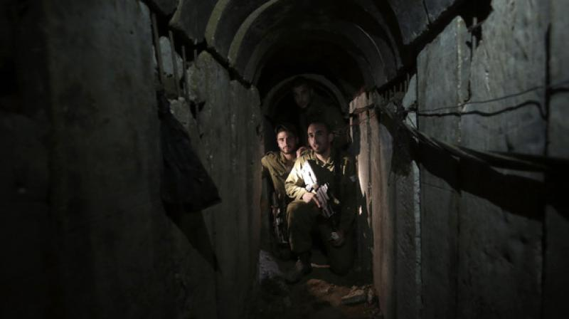 The tunnel began east of the city of Rafah in the Gaza Strip, crossed into Israel some 180 metres, then continued into Egypt for an unspecified length, with no exit point detected. (Photo: AP)