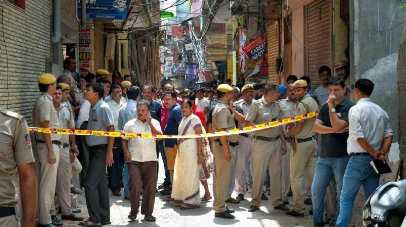 11 members of a family were found dead in a house in north Delhi's Burari on Sunday. (Photo: PTI)