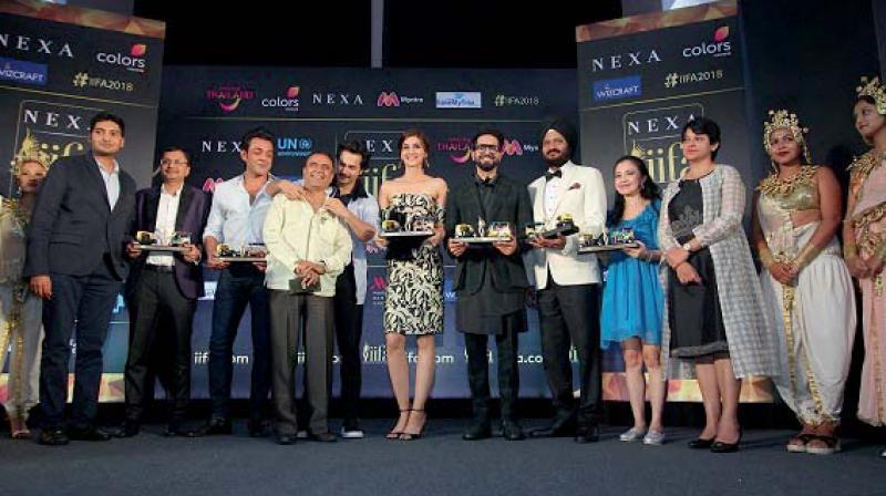 Key dignitaries and stars at the Iifa Mumbai press conference.