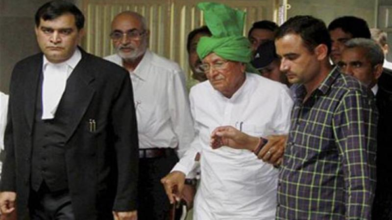 Ongoing feud within Chautala family escalated with INLD chief Om Prakash Chautala expelling his son Ajay Singh from primary membership of party for alleged anti-party activities. (Photo: File | PTI)
