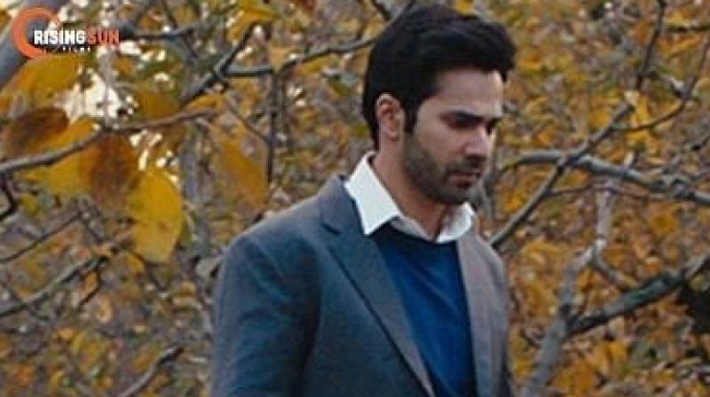 Varun Dhawan in a still from 'October'.