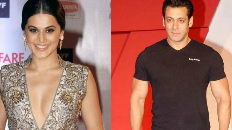 After Akshay Kumar, Taapsee Pannu will be sharing screen space with another superstar, Salman Khan.