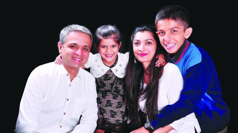 Simran with her family