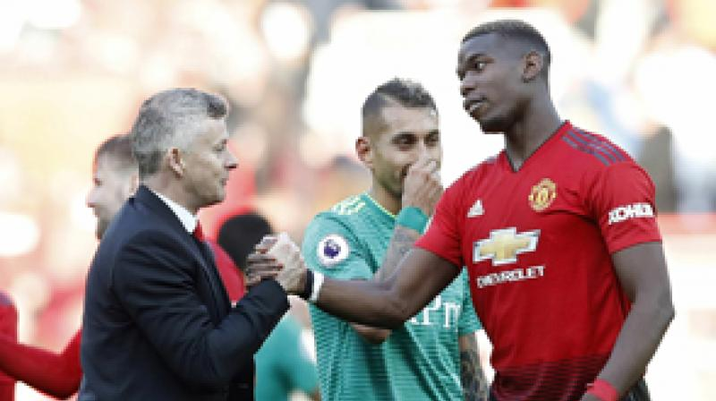 Pogba scored eight goals and provided five assists in his first 10 games following Solskjaer's appointment but his performances have tailed off since, and it was a surprise to many observers that the French midfielder was named in the Professional Footballers' Association's team of the year on Thursday. (Photo: AP)