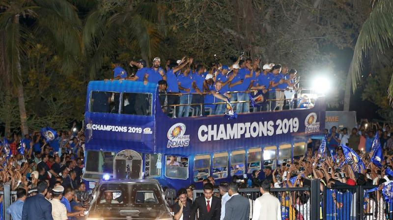 The Rohit Sharma-led team defeated an equally strong Chennai Super Kings by one run in an edge of the seat thriller Sunday night in Hyderabad. (Photo: Mumbai Indians/Twitter)