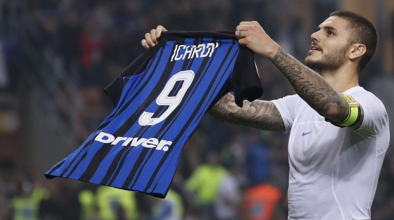Icardi initially said he could not play because of a knee problem, before returning to training last week after negotiations between his lawyer and the club. (Photo: AP)