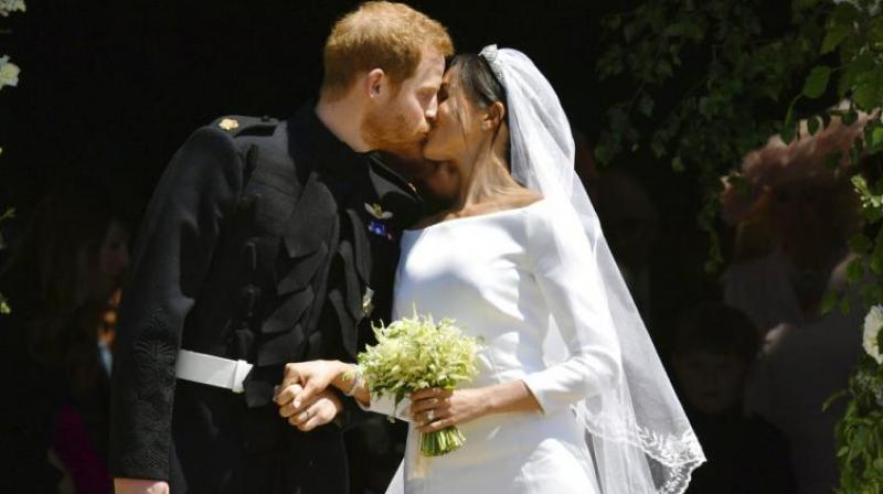 Duke and Duchess of Sussex on their wedding day on May 19, 2018. (Photo: AP)