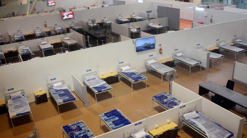 A file image of a new quarantine facility in Navi Mumbai. (PTI)