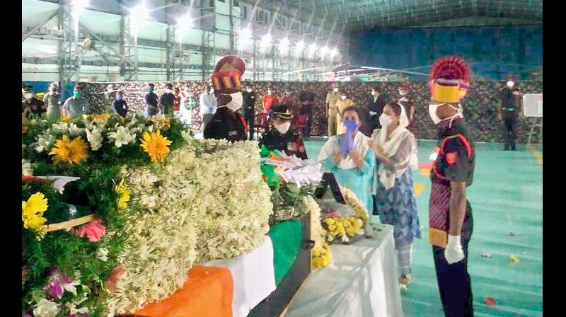 Colonel Babu's wife pays her last respects.