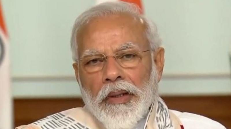 Modi during the video conferencing.