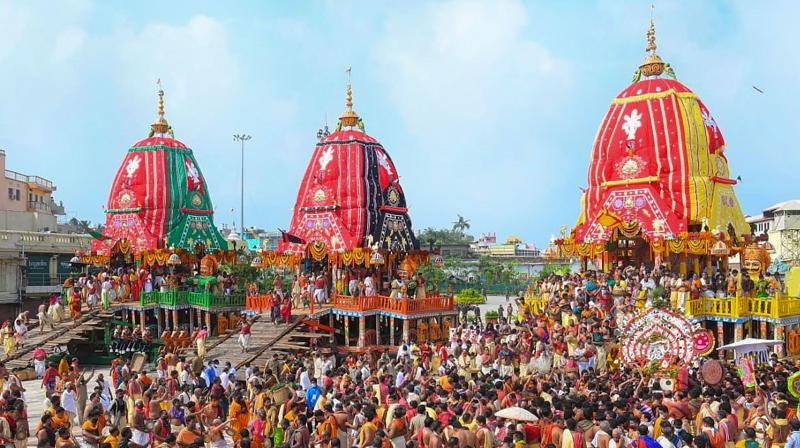 The Puri Jagannath temple on Tuesday. (PTI)