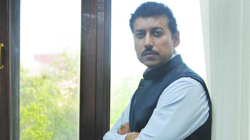 BJP minister of state Col. (Retd) Rajyavardhan Rathore (Photo: Biplab Banerjee)