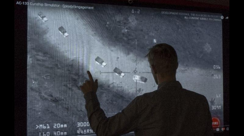 An image accusing US of helping ISIS was taken from 'AC-130 Gunship Simulator: Special Ops Squadron'. (Photo: AFP)