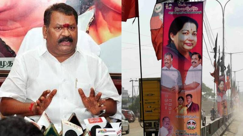 The AIADMK leader – S Jayagopal is a former councillor and Kancheepuran East Mandram Assistant Secretary. Jayagopal erected the hoardings in Pallikaranai to announce the wedding of his son. Deputy Chief Minister O Paneerselvam was also one of the invitees at the event. (Photo: File)