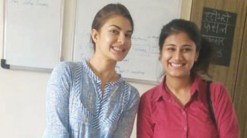 Pallavi Singh with actress Jacqueline Fernandez.