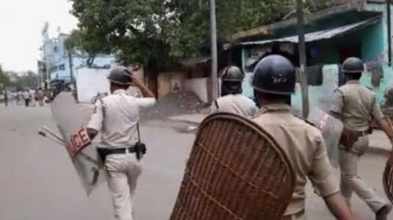 Two people were killed and 11 others injured on Thursday after clashes broke out between two groups suspected to be affiliated to the TMC and the BJP. (Photo: ANI)