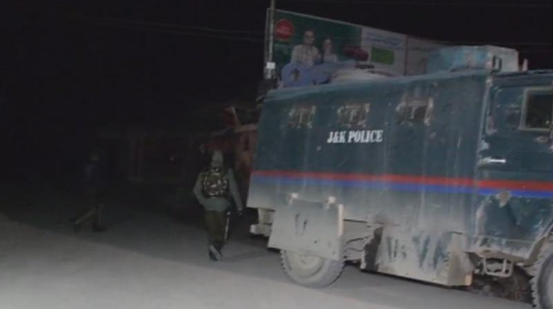 The militants stormed the 185th battalion camp of the CRPF or Central Reserve Police Force in Lethpora in Kashmir valley around 2 am. (Photo: ANI)