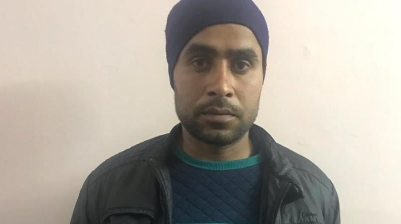 Jitendra Malik, also known as Jettu Fauji was handed over to the police by the Army. (Photo: ANI | Twitter)