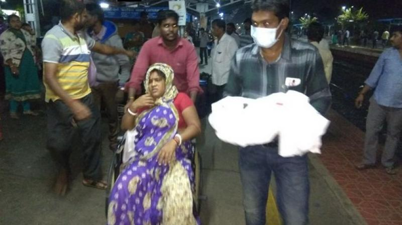 After the sudden delivery, the couple and the newborn were sent to the Government General Hospital, Nellore. (Photo: ANI)