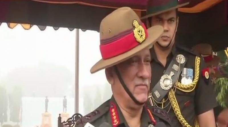 General Rawat also informed that stone pelting incidents in the Kashmir valley have decreased. (Photo: Twitter | ANI)