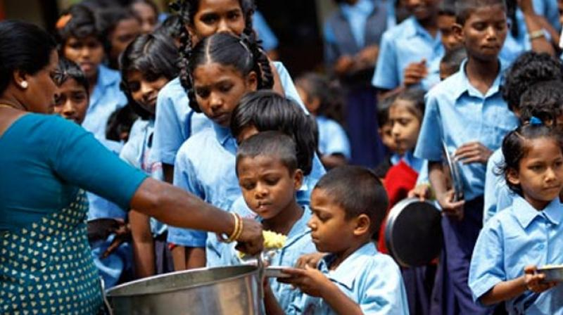 Students were allegedly asked to clean the toilet using the utensils (thalis) in which they are served their mid-day meals, a group of parents said. (Photo: AP)
