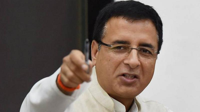 Hitting out at the BJP, Randeep Surjewala, media head of the Congress, demanded a reply from the Prime Minister. (Photo: File)